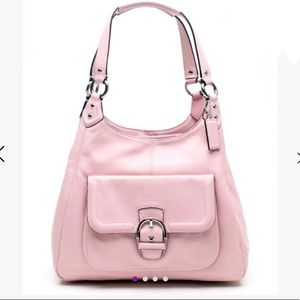 Coach Pink Campbell Leather Hobo